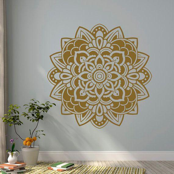 mandala mur sticker vinyle autocollants yoga par fabwalldecals mandalas pinterest vinyle. Black Bedroom Furniture Sets. Home Design Ideas