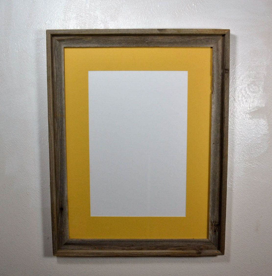 18x24 Poster Frame 18x24 Poster Frame Reclaimed Wood With 12x18 Yellow Mat