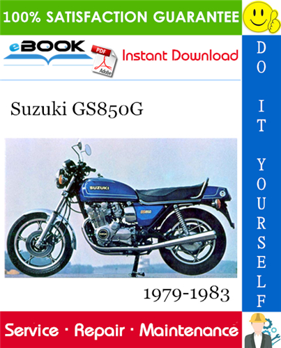 Suzuki Gs850g Motorcycle Service Repair Manual 1979 1983 Download Repair Manuals Suzuki Repair