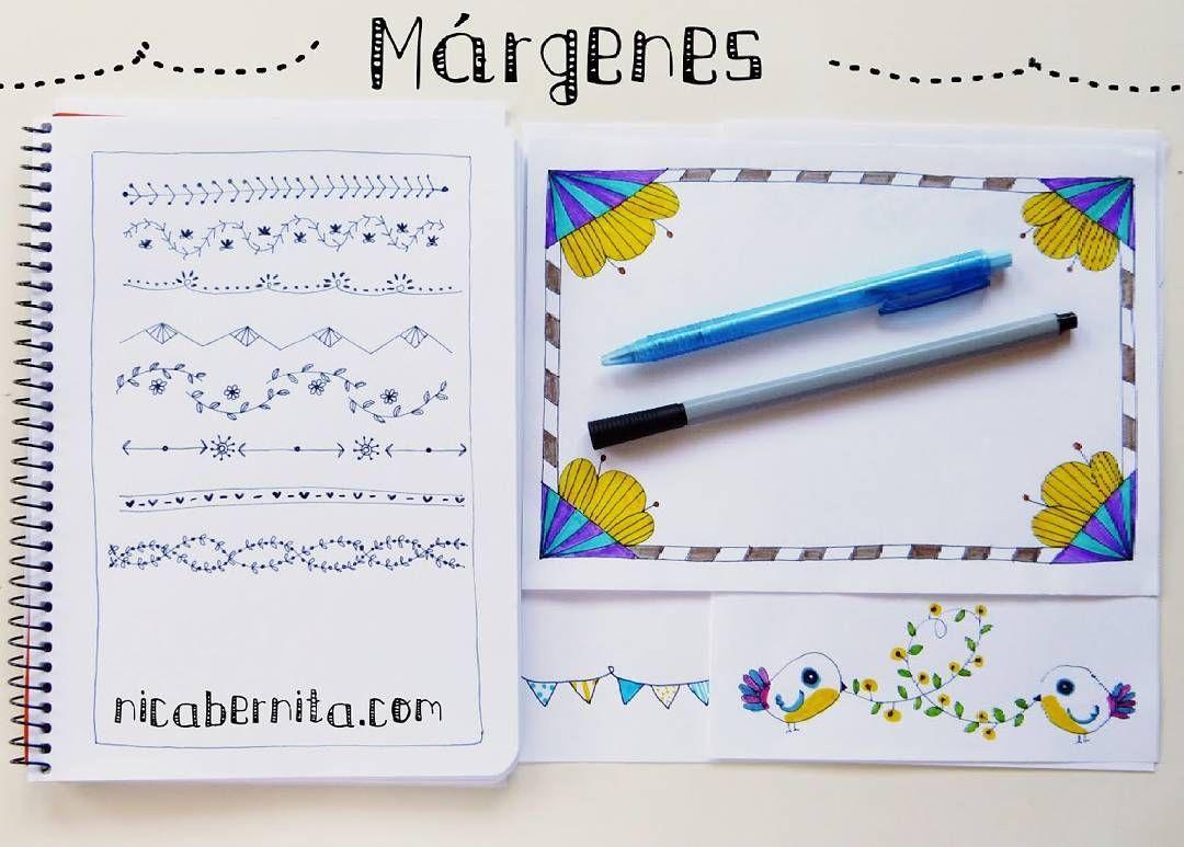 Ideas De MÁrgenes Para Decorar Cuadernos Y Libretas: En El último Vídeo Diseñamos #márgenes O Bordes Para
