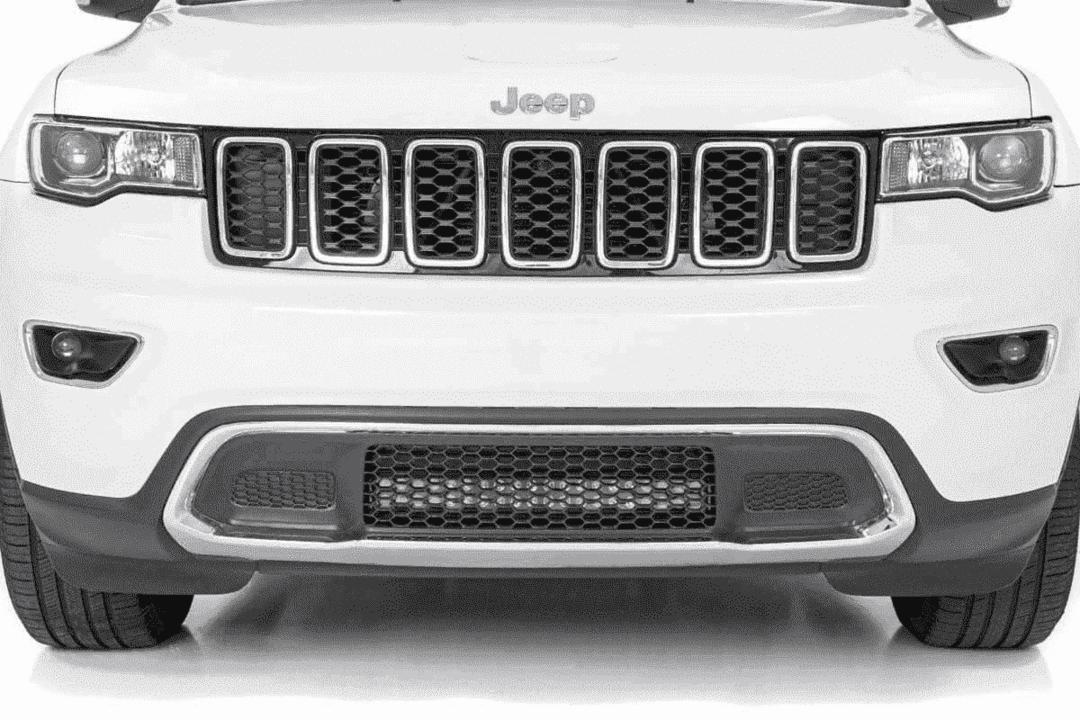 Wk2 Grand Cherokee 20 Hidden Led Bumper Kit Dual Light Bar