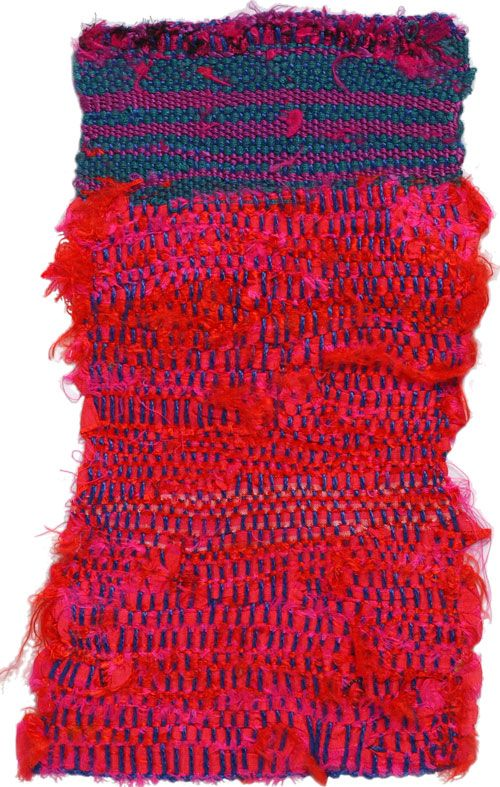 Sheila Hicks. MOGADOR, 1966. 24 x 14 cm. Cotton, silk.