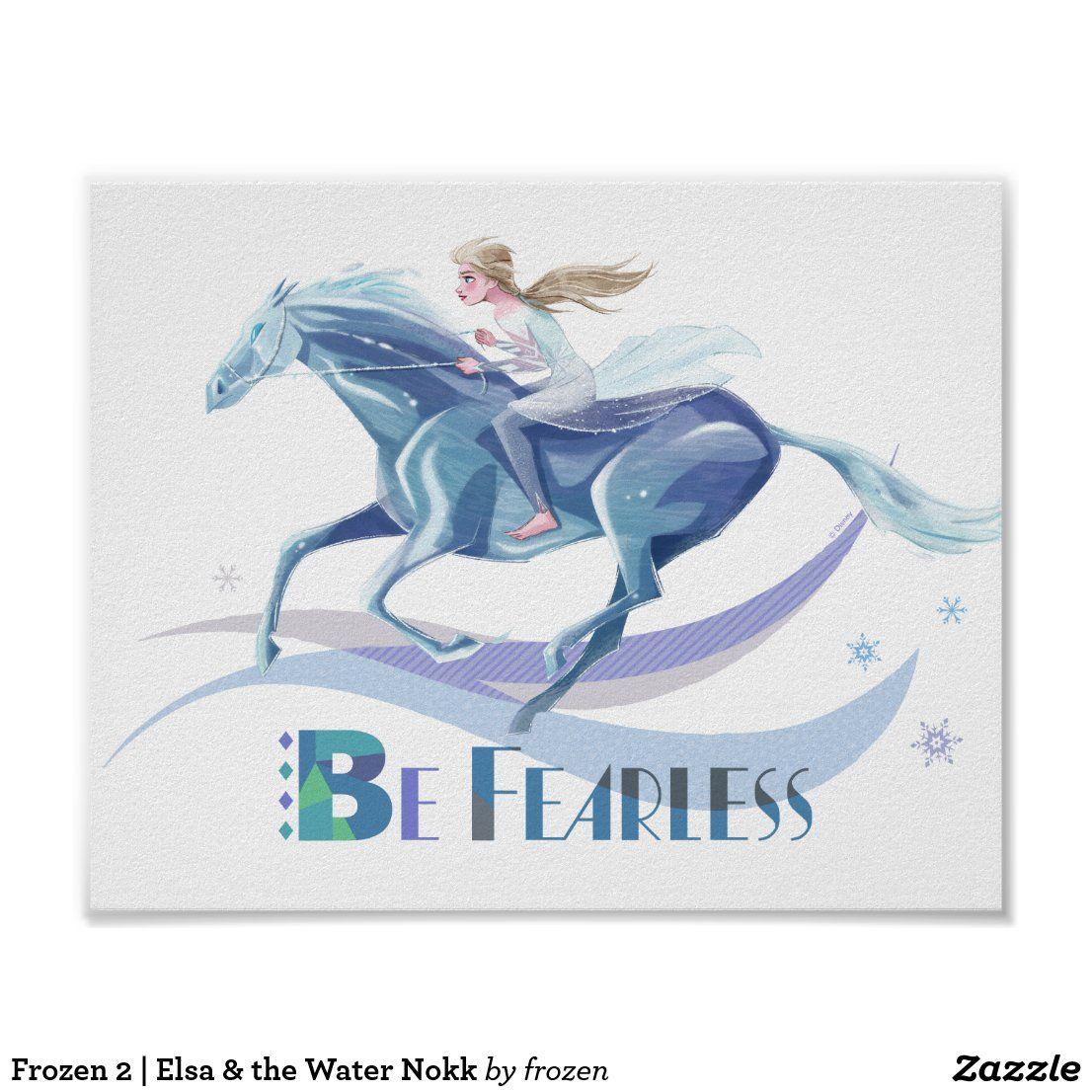 Frozen 2 Elsa The Water Nokk Poster Zazzle Com Disney Posters Canvas Prints Vintage Disney Posters