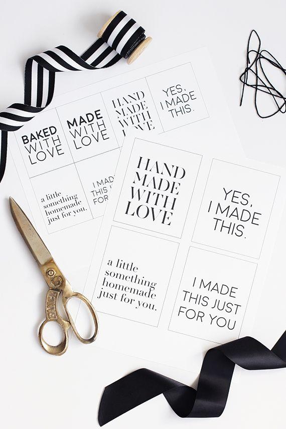 Free printable handmade holiday gift tags diy free printable gift tags by minted negle Choice Image
