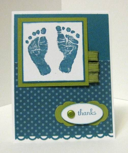 Stampin Up Baby Thank You card