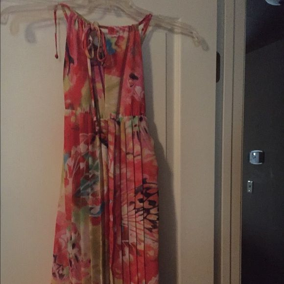 Summer floral dress brand new no tags never worn New no tags but tried on a couple times Summer colors beautiful vacation dress B.Darlin Dresses Midi