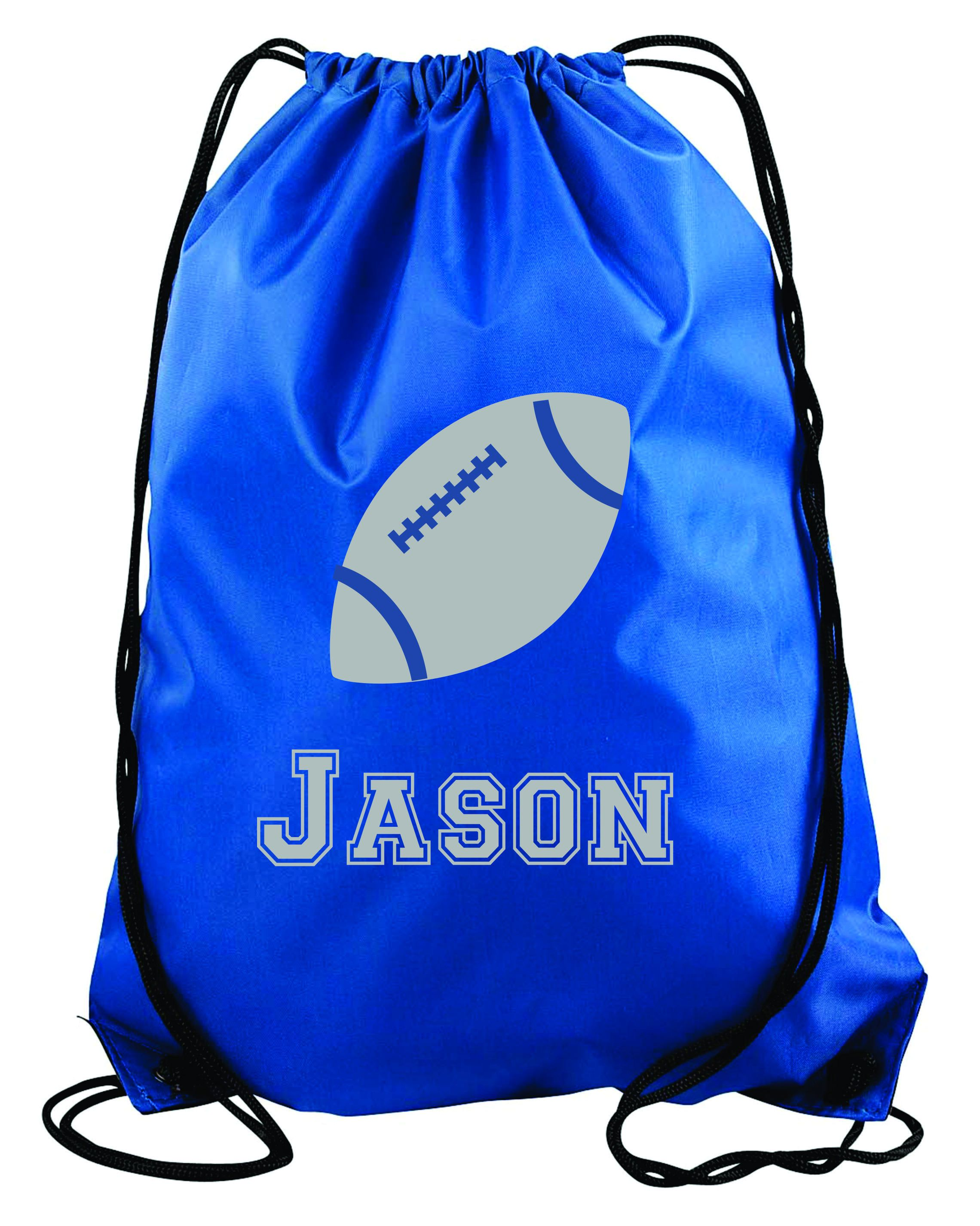 3839dd109bd521 Football personalized string bag- Kids drawstring bags, gym bags, backpacks,  , swimbag, sports bag. by 5MonkeysDesigns on Etsy
