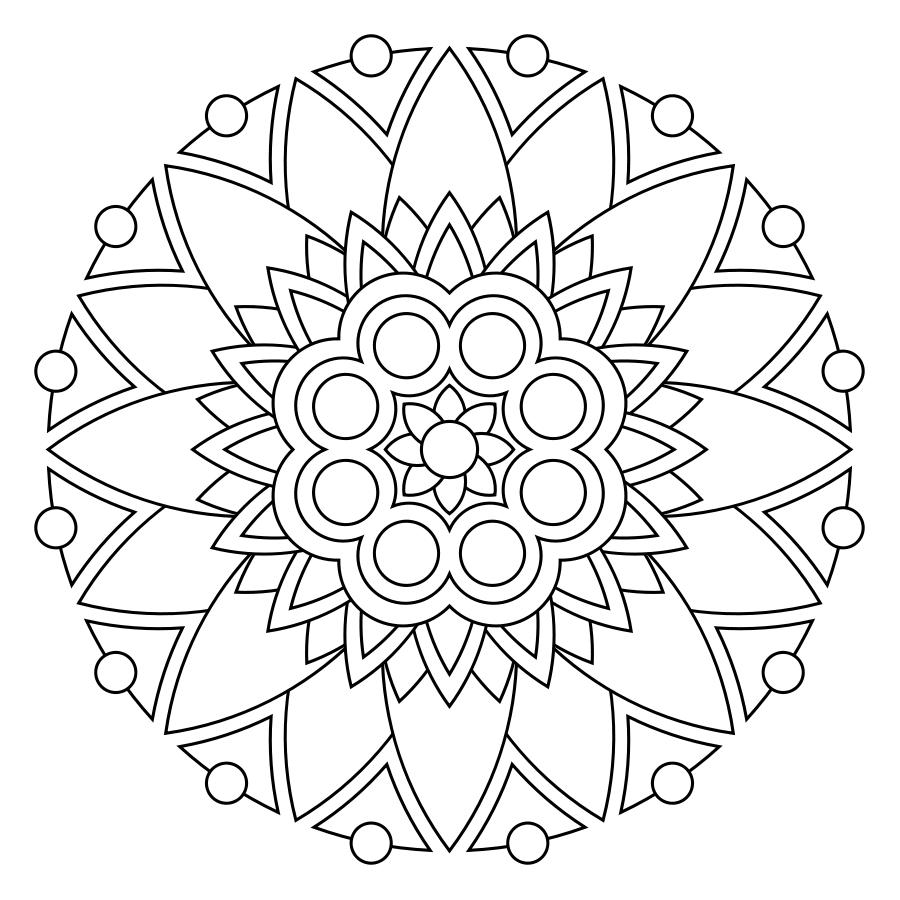 Mandala Para Colorear Http Printmandala Com