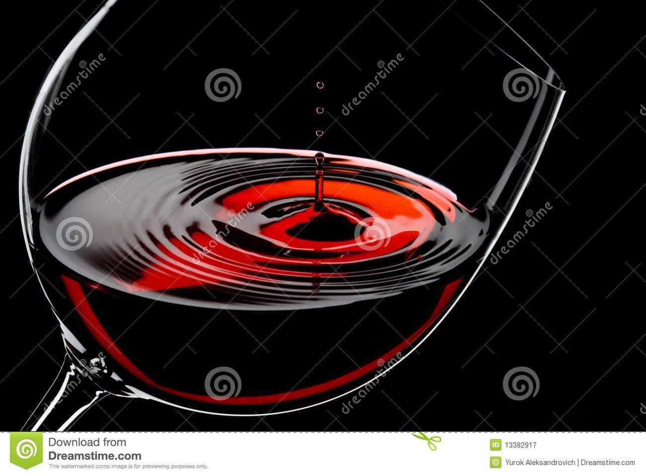 Glass Of Red Wine Drops In Motion Studio Shot Wine Drop Drink Photo Red Wine Bottle
