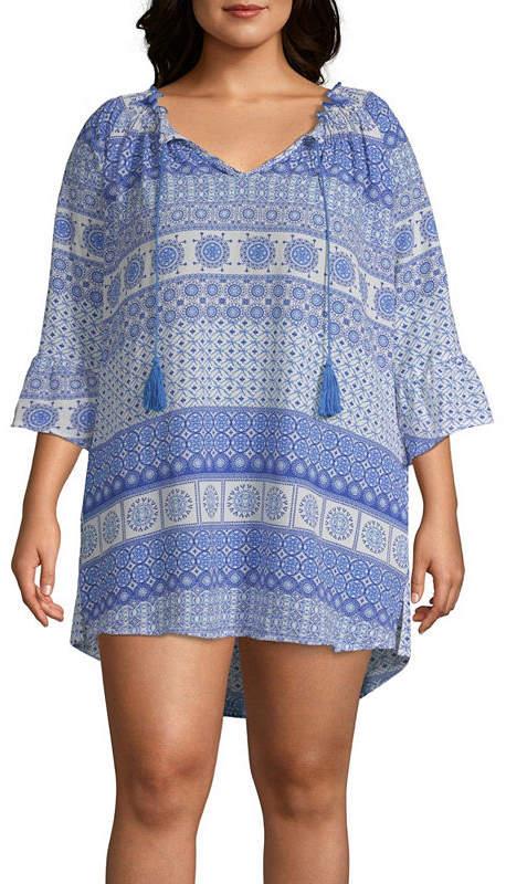 d02eff1fe4 Porto Cruz Knit Swimsuit Cover-Up Dress-Plus | Products | Swimsuit ...