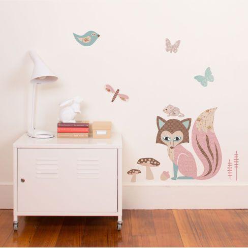 Fox and friends tinyme · kids decorwall cupboardsnursery ideasroom