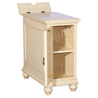 Reese Cabinet Cream Distressed - Powell Company