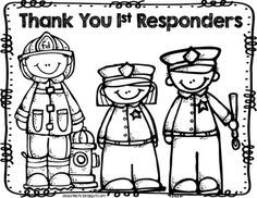 9 11 First Responders Coloring Page Little Learners Community