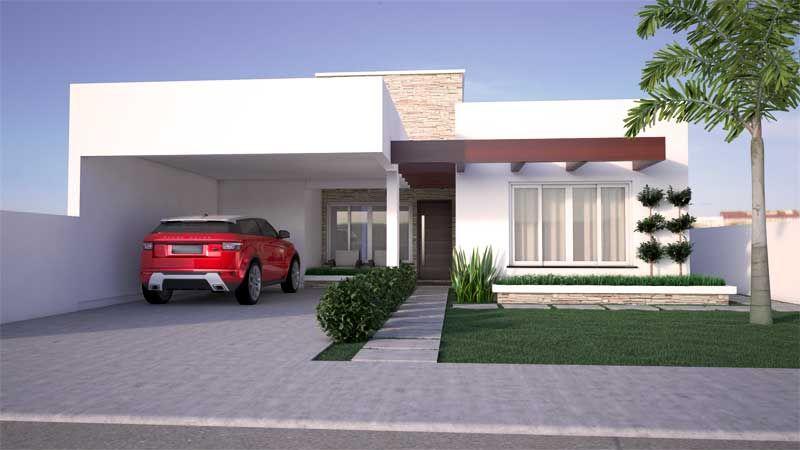 Casa moderna de um pavimento pesquisa google for Fachadas de casas modernas de 2 quartos