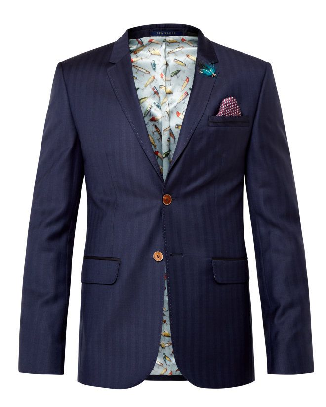 224bf6990f Tight Lines herringbone wool jacket - Dark Blue