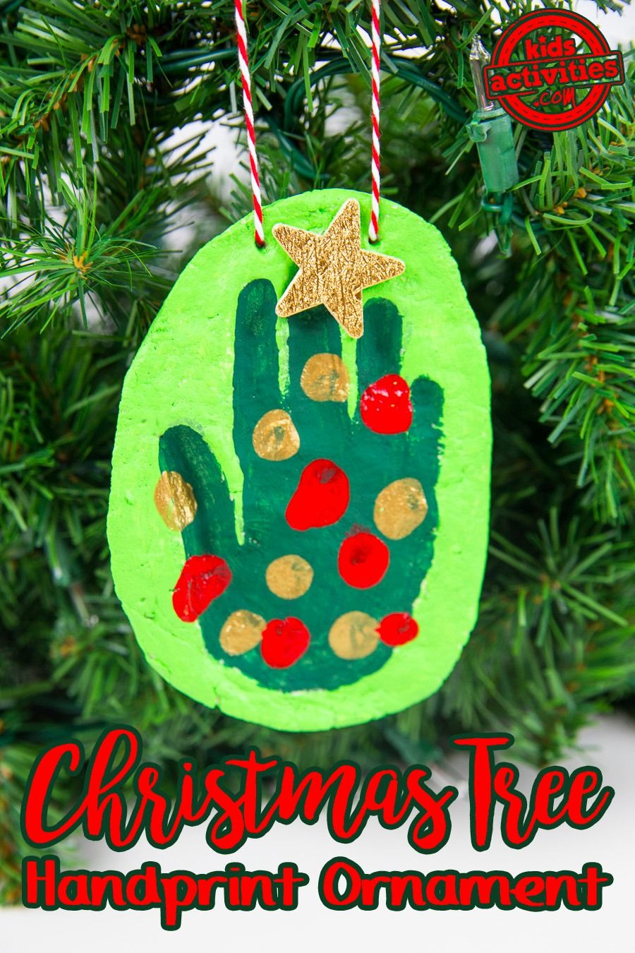 Turn Your Child S Handprint Into A Christmas Tree With This Adorable Homemade Holiday Ornament Idea