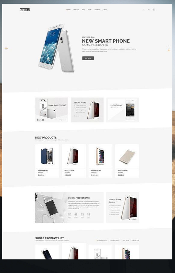 Subas Electronics Ecommerce Website Template 65543 Website Template Ecommerce Website Design Learn Web Design