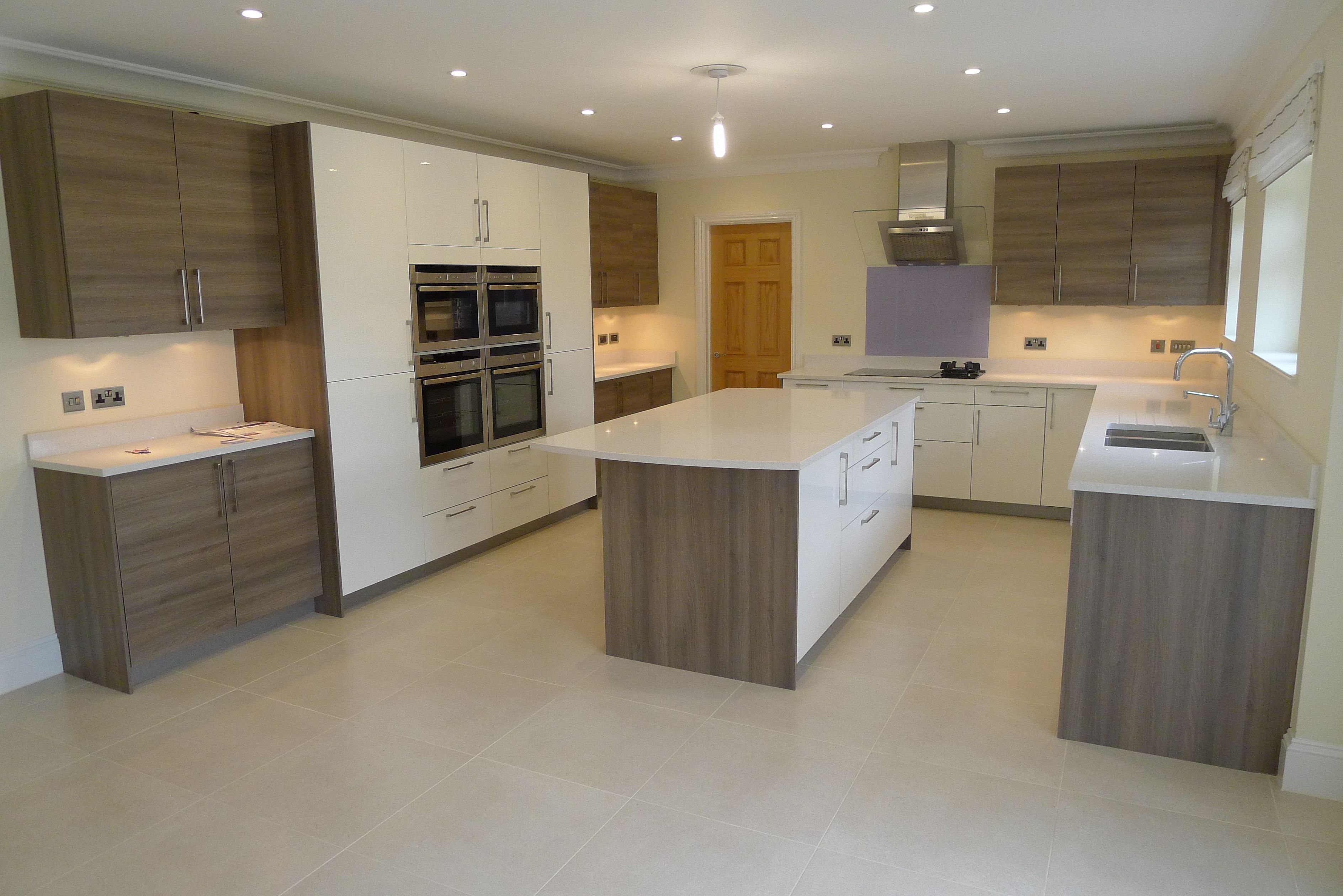 Attractive Gloss Magnolia And Grey Acacia Wood By Hacker At The Kitchen Company,  Uxbridge