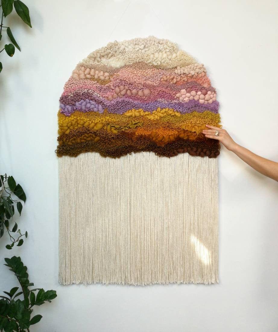 Xxl Woven Wall Hanging Modern Tapestry Wall Decor Fiber Etsy Weaving Wall Hanging Woven Wall Hanging Fiber Wall Art