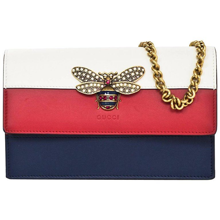 5538f779d9b8 Gucci Tri-Color Queen Margaret Bee Mini Bag with Box and DB | Bags ...