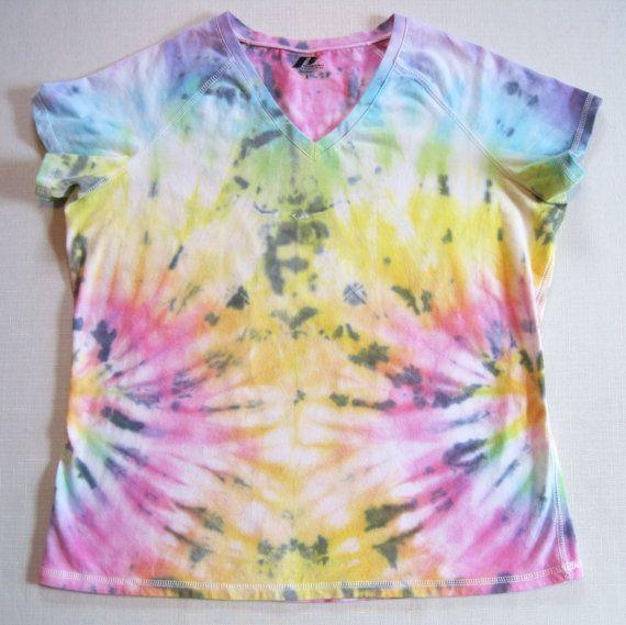 a26368e622a Women s Tie Dye Tshirt Beautiful Rainbow Side Spiral by lrmessier ...