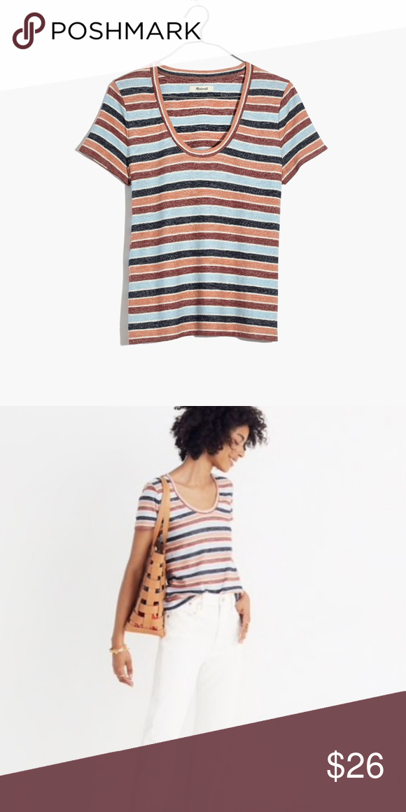 4fc1a839 Madewell Alto Scoop Tee in Colborne Stripe, XXS Worn 2xs, in excellent  condition!