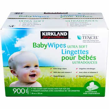 Kirkland signature Tencel Baby Wipes 18 X 20 cm 900 Count