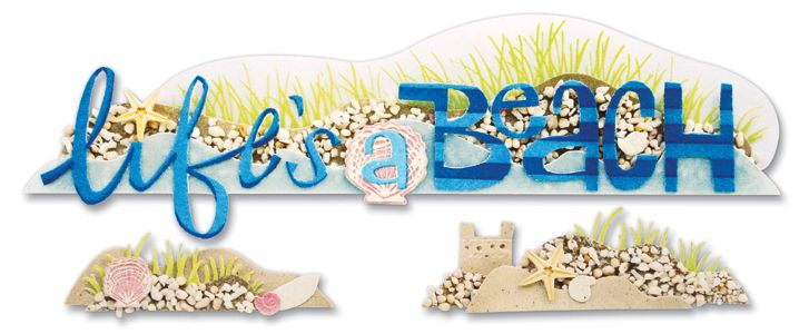 Jolee's A Day At The Beach Title Waves Stickers - Life's A Beach - Click to enlarge