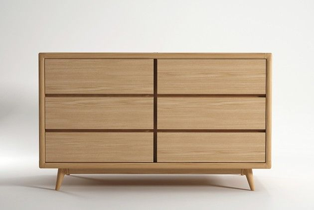Oak Chest Drawers This Chest Of Drawers In European White Oak Presents Simple Clean Rounded Lines Inspired By The Danish Classic