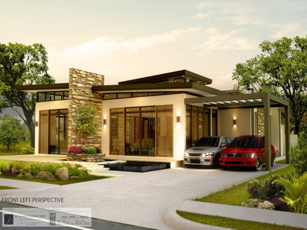 Best 25 modern bungalow house ideas on pinterest modern for Modern style house plans