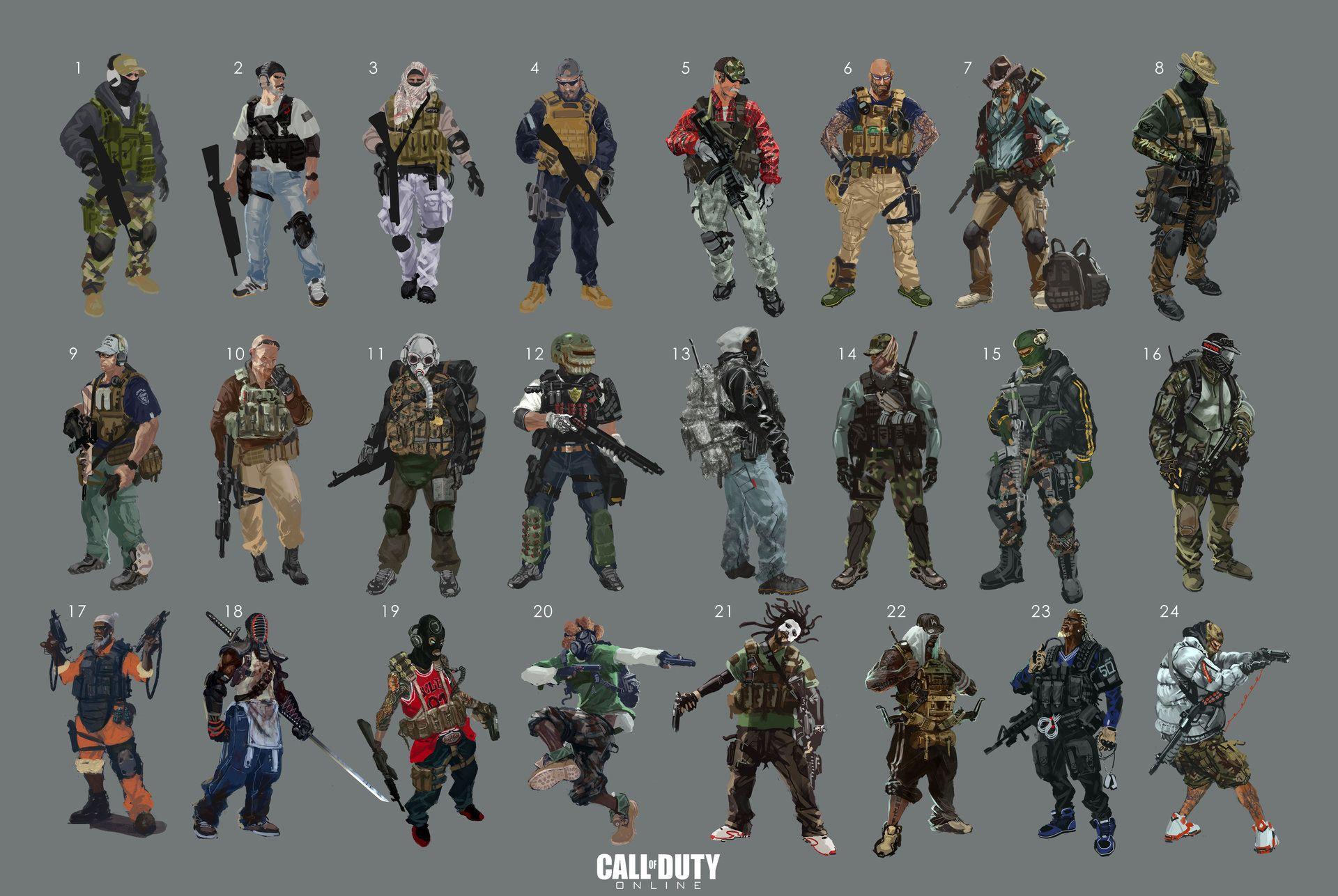 ArtStation - call of duty Online-mercenaries concept, Jay Li