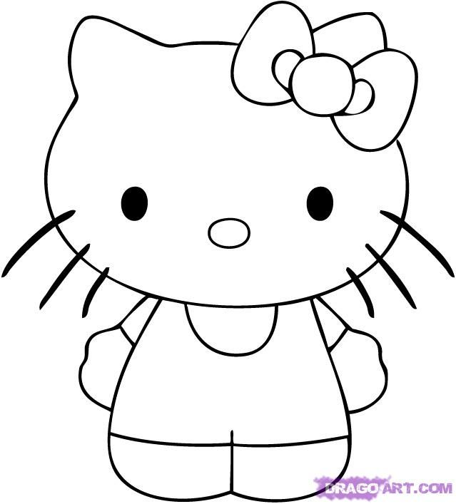 Cool Drawings To Draw How To Draw A Cute Hip Hello Kitty Step 4