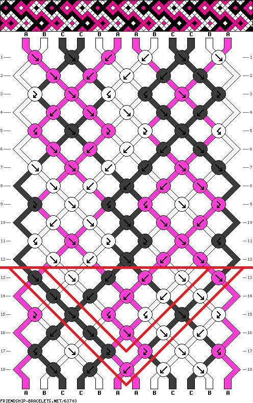 Как закончить фенечку конфеткой схема   Friendship Bracelet Patterns ...