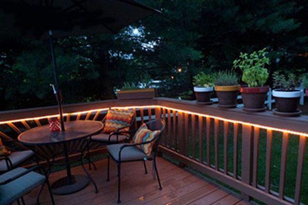 using 24v led rope lights in outdoors light patio ul ma backyard fences fence decor guddl