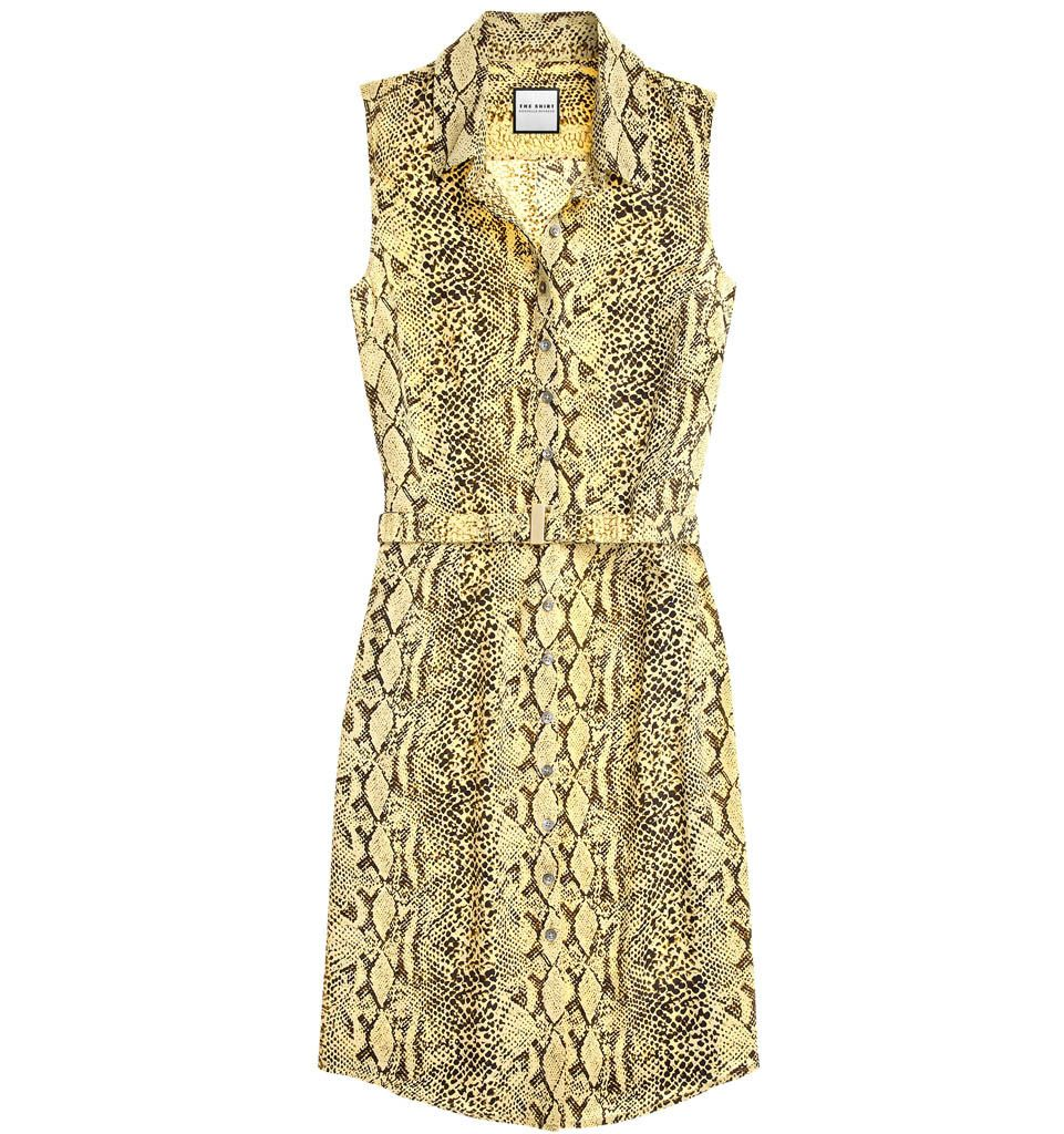 cfd69a3b30fd The Shirt by Rochelle Behrens - The Sleeveless Shirtdress in Goldencream  Python