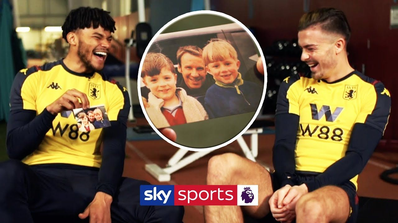 Jack Grealish & Tyrone Mings laugh over pictures from