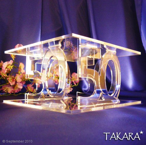 50th Birthday Party Cake Stand / 50th Golden Wedding