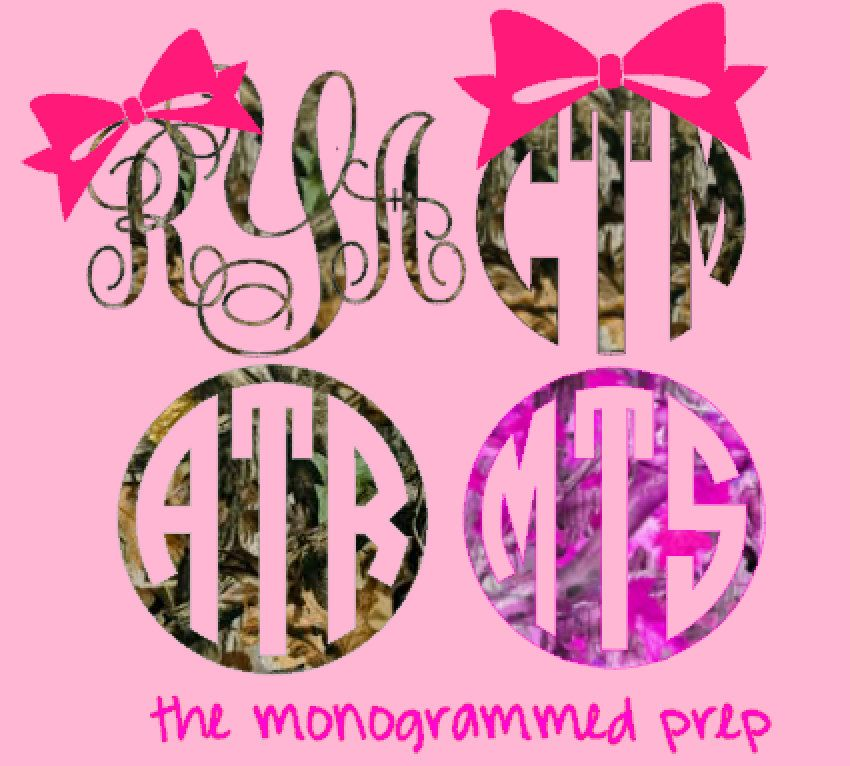 Camo Monogram Car Decal Sticker By TheMonogrammedPrep On Etsy - Monogram car decal sticker