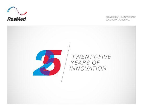 resmed   25th anniversary logo on behance logo 25th Anniversary Logo Template 25th Anniversary Company Logo