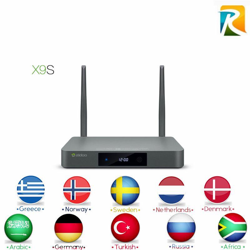 Arabic IPTV Royal IPTV ZIDOO X9S Android TV BOX Android 6 0