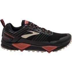 Brooks Herren Trailrunningschuhe Cascadia 13 Gtx, Größe 46 in Black/Red/Tan, Größe 46 in Black/Red/T