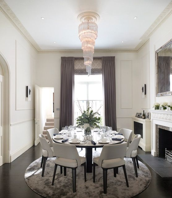 19 Practical Solutions For Carpet In The Dining Room Round Dining Room Dining Table Rug Round Dining Room Table