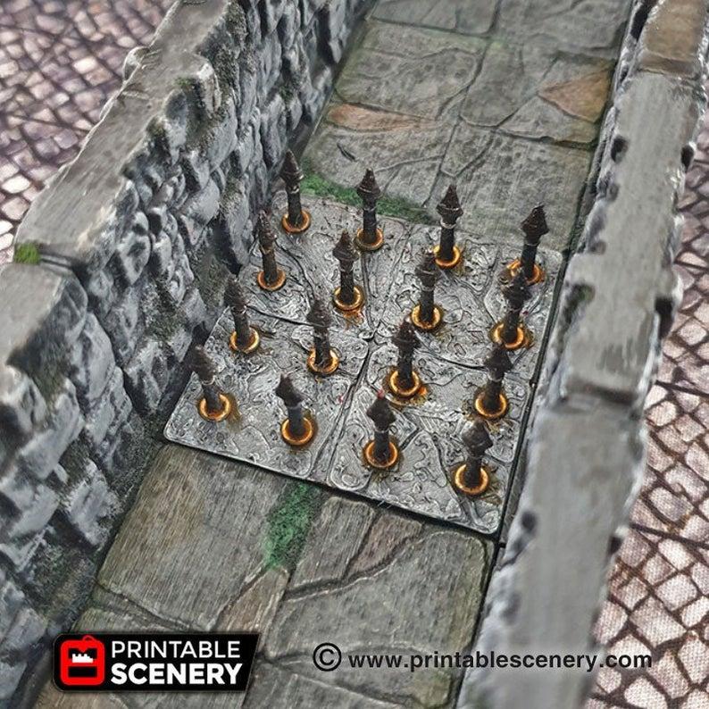 Deadly Floor Trap Set - 28mm 32mm Clorehaven Goblin Grotto Wargaming Terrain Scatter D&D DnD Pathfinder Warhammer 40k