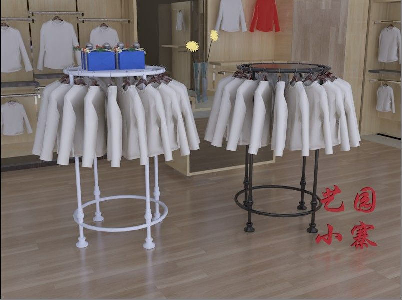 Unique Round Clothes Rack In Home Bedroom Ideas In 2020 Clothing Rack Wooden Blinds Closet Rack