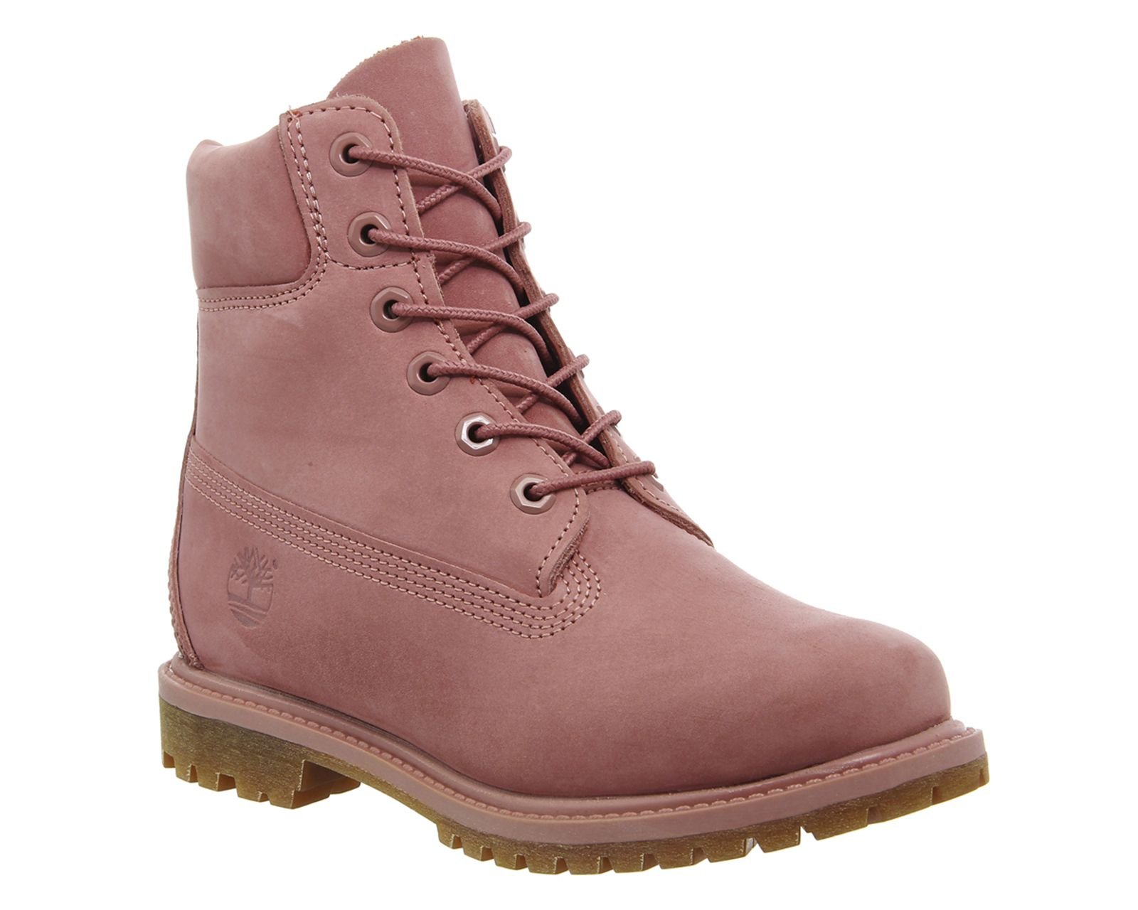 Timberland Premium 6 Womens Ankle Boots Dusty Rose Nubuck