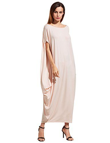 00e190d6445 Verdusa Women s Boho One Off Shoulder Caftan Sleeve Harem... https