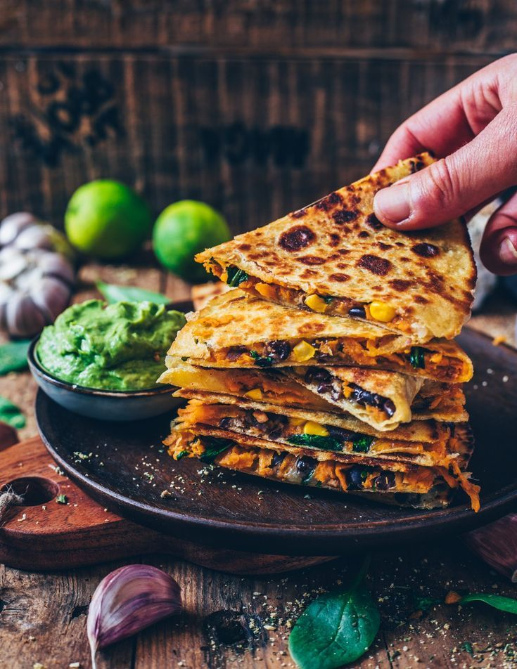 Vegan Sweet Potato Quesadillas (easy recipe) - Bianca Zapatka | Recipes