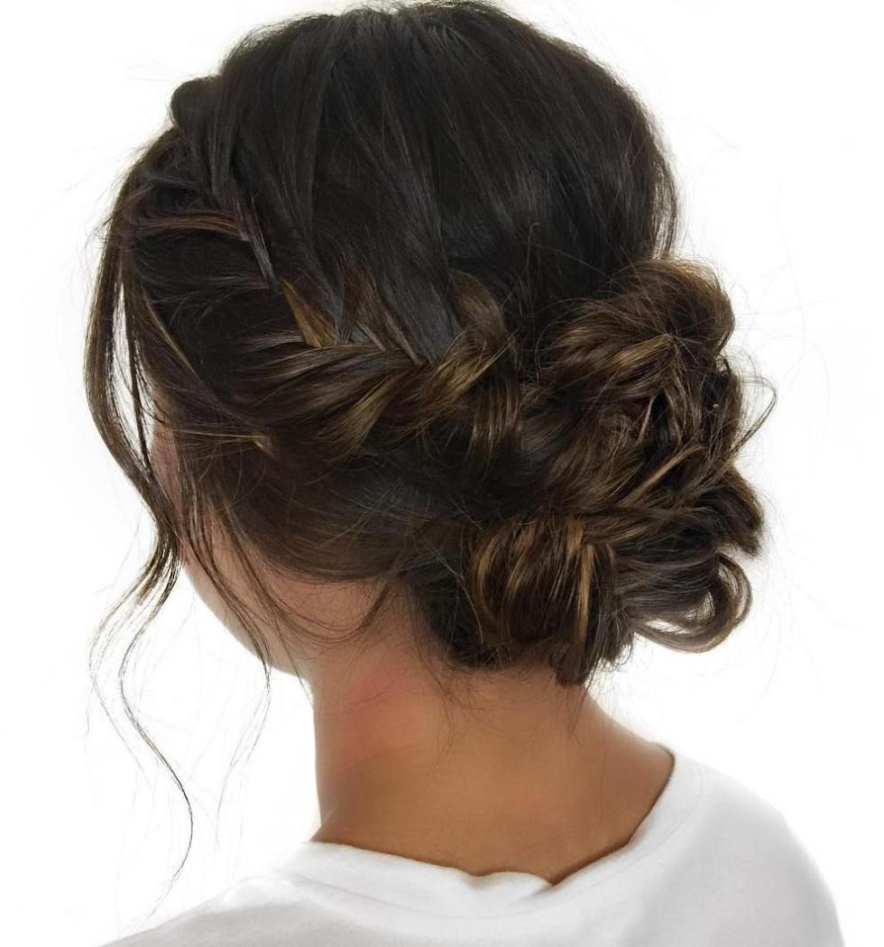 messy curly upfo for thin hair