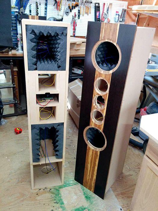 Based On The Popular U201cStatementsu201d Speaker Design By Jim Holtz, John Built  His