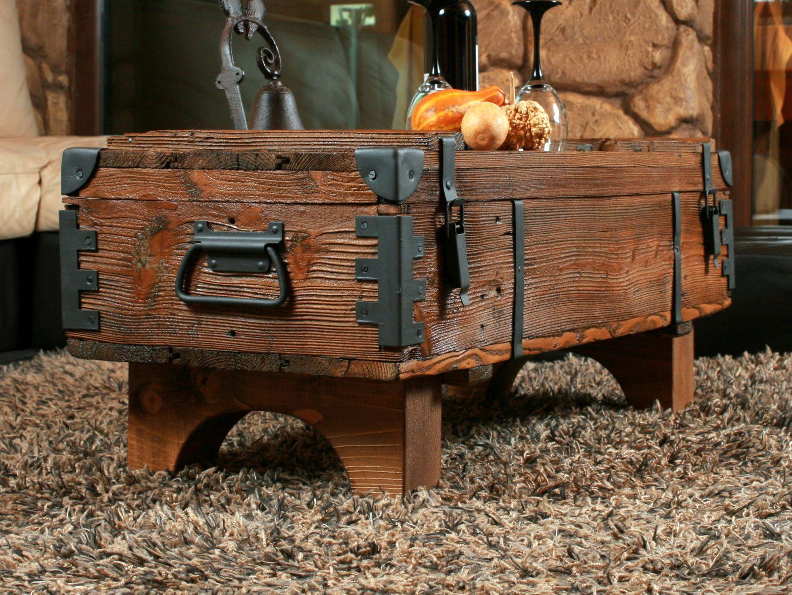Alte Truhe Kiste Tisch Shabby Chic Holz Beistelltisch Holztruhe Couchtisch  16 U2022 EUR 149,99   PicClick DE